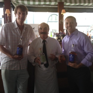 Bully Boy Distillers' Will Willis, Clarke Cooke House's legend Kenny G, and yours truly.