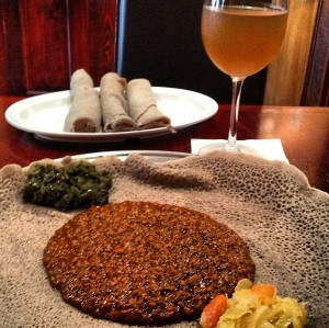 Yemisir Wat & Ethiopian Honey Wine...fantastic!