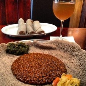 Yemisir Wat & Ethiopian Honey Wine...fantastic!