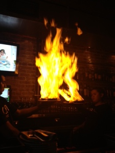 The Flames of Saganaki! Sounds terrifying doesn't it?!